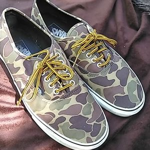 Vtg Vans off the Wall camo camouflage shoes 10